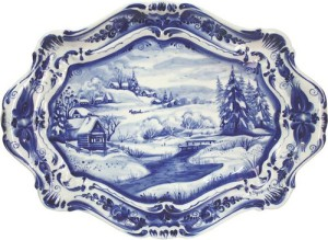 Gzhel Blue fairytale of Russia