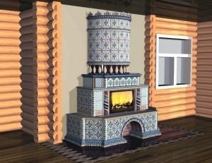 Gorgeous gzhel stove