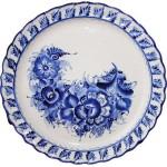 Exquisite plate of Gzhel
