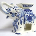 Elephant Gzhel teapot