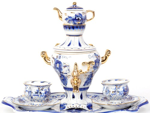 Beautiful Gzhel samovar