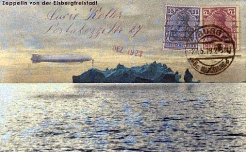 1923 card of Eisbergfreistadt