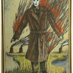 Weird character depicted on Eisbergfreistadt playing card