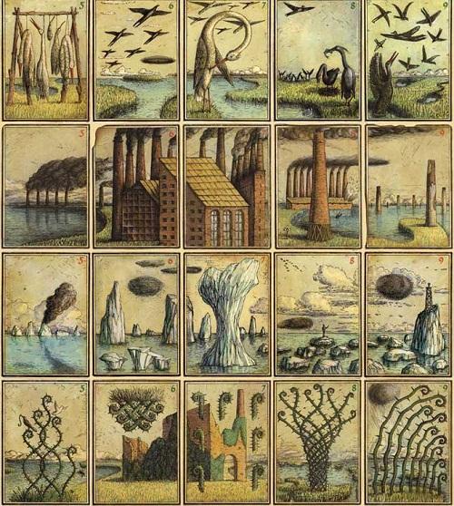 Twenty Handcolored playing cards Eisbergfreistadt