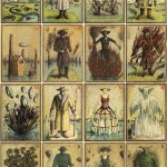 Apocalyptic images. Handcolored playing cards Eisbergfreistadt