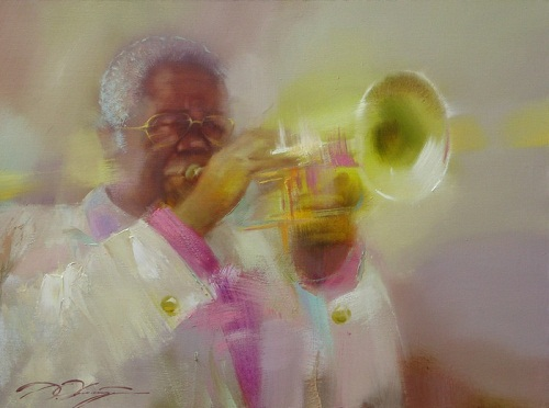 The series 'Jazz', painting by Russian artist Denis Oktyabr