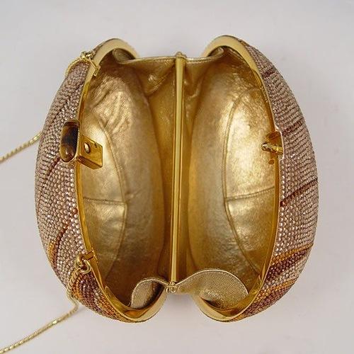 Judith Leiber Crystal Egg Minaudiere Purse