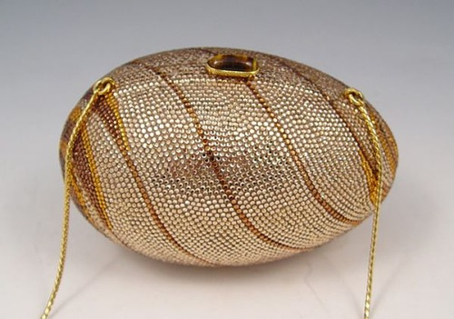 Judith Leiber Crystal Egg Minaudiere Purse