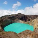 Indonesian Kelimutu crater lake