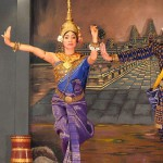 In one of the restaurants of Khmer, performing dancer