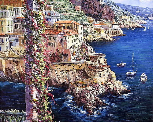 Bright colors of traveling artist Sung Sam Park