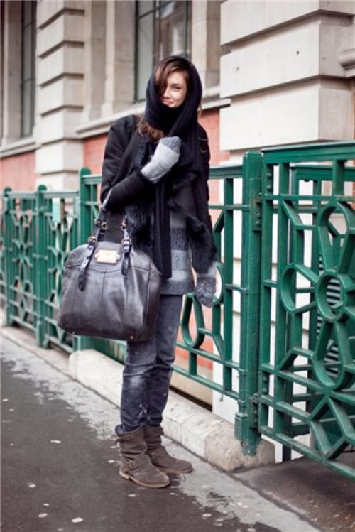 Wearing casual clothes, Ksenia Kahnovich, Russian supermodel