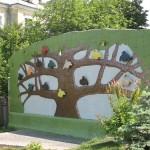 Tree of life. Landscape alley urban project by sculptor Konstantin Skretutsky