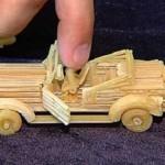 Retro automobile. Macaroni sculpture by Russian creative designer Sergei Pakhomov