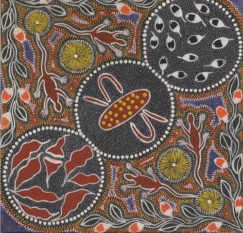 Dot painting by Margaret Davis Kemarre