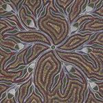 Traditional dot painting by Australian artist Margaret Davis Kemarre