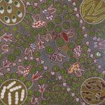 Unique Dot painting by Australian artist Margaret Davis Kemarre