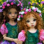 Lavender Fairy Dolls. Work by Canadian artist and costume designer Martha Boers