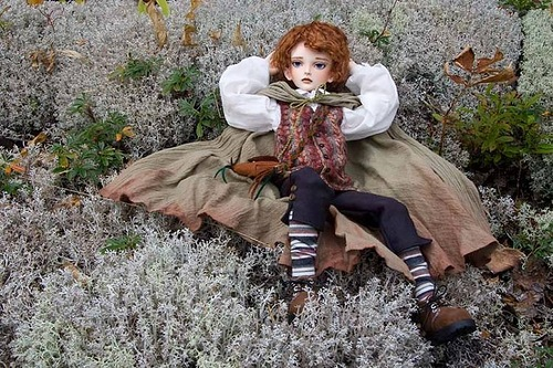 Sam, one-of-a-kind boy from the collection of Dolls by Canadian artist and costume designer Martha Boers