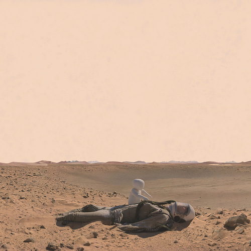 Dramatic photo and sculptural installation Life on Mars. Artwork by Richard Selesnick and Nicholas Kahn