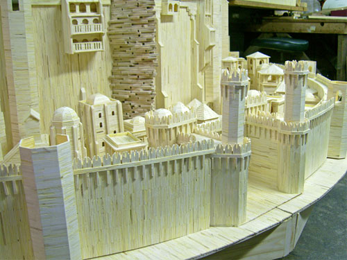 Matchstick architecture by Patrick Acton