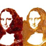 Mona Lisa by Leonardo da Vinci of the jam and peanut butter