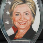 Mrs Clinton. Sand art by Y Lan