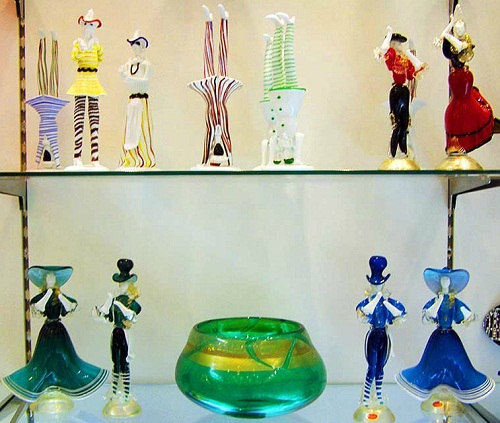Unique glass art of Murano