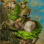 Napoleon on the potato (artist Ju Duoqi)