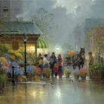 Painting by American artist Gerald Harvey Jones