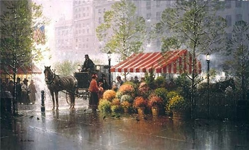 Painting by Gerald Harvey Jones