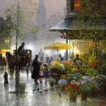 Gerald Harvey Jones painting rain