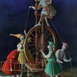 Circus rehearsal. Painting by Armenian artist Vahram Davtian
