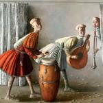 Chamba drum. Painting by Armenian artist Vahram Davtian