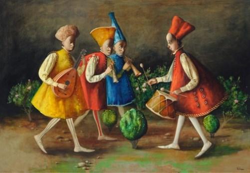Painting by Armenian artist Vahram Davtian