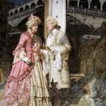 A date. Painting by Russian artist Vladimir Ryabchikov