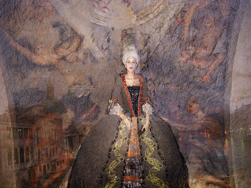 Evening. Painting by Russian artist Vladimir Ryabchikov