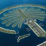 Palm islands in the UAE, the Emirate of Dubai