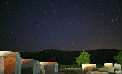 Meteor shower, known as Perseid