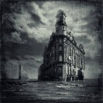 A house in the flood. Black and white St. Petersburg by Russian professional photographer Gennadi Blokhin
