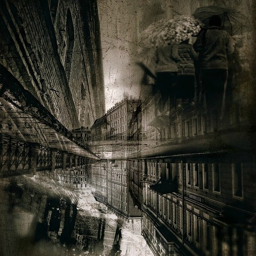 Reflections. Black and white St. Petersburg by Russian professional photographer Gennadi Blokhin