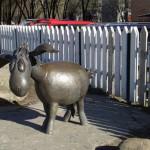 A donkey sculpture. Ramenskoye