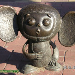 Cartoon character, known as Cheburashka. Ramenskoye