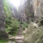 Prachov Rocks Natural Reservation in Czech Republic