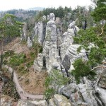 Attracting lots of tourists Prachov Rocks – Natural Reservation in Czech Republic