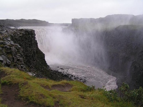 """Known as """"bubbling waterfall,"""" or 'European Niagara', the most powerful waterfall in Iceland and Europe"""