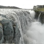 Raging waterfall – Dettifoss, 'European Niagara'. The most powerful waterfall in Iceland and Europe