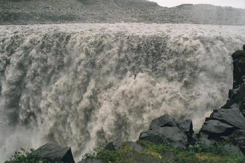 waterfall – Dettifoss, 'European Niagara'. The most powerful waterfall in Iceland and Europe