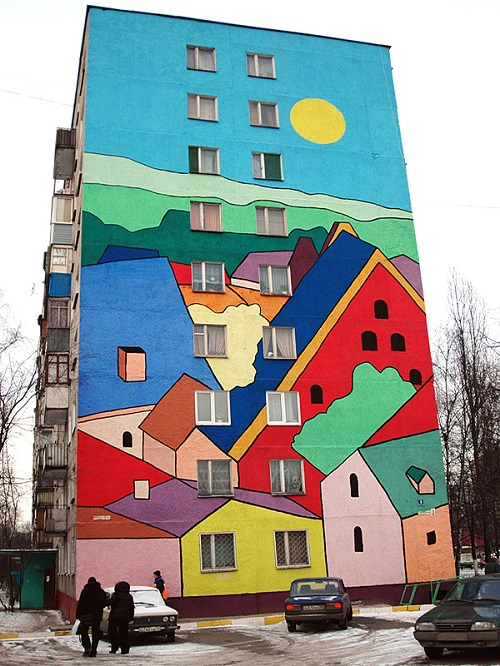 Street art in Ramenskoye