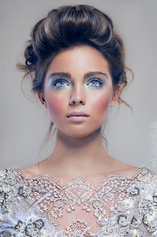 Blue-eyed model